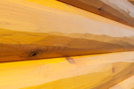 Siding Logs Deluxe Hand Hewn